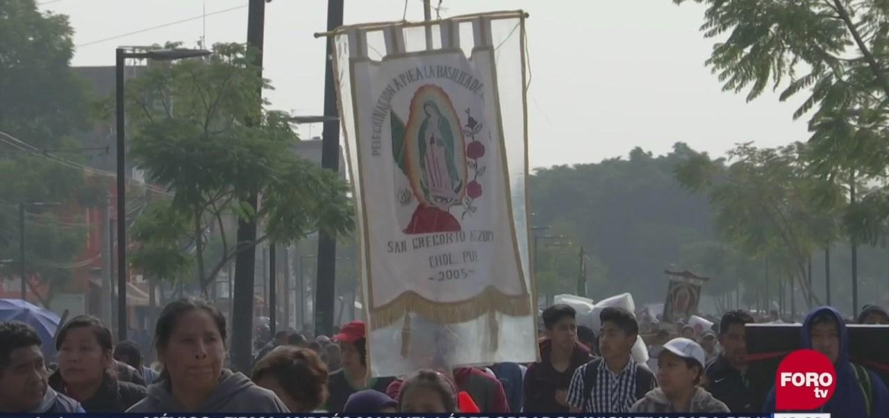 Peregrinos celebran a la Virgen de Guadalupe y cumplen mandas