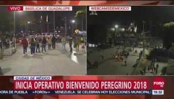 Peregrinos comienzan a llegar a la Basílica de Guadalupe