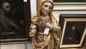 Recuperan en CDMX esculturas de arte sacro