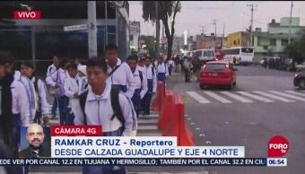 Policías realizan operativo por llegada de peregrinos a la Basílica de Guadalupe