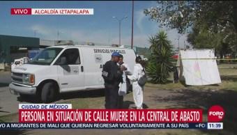 Persona en situación de calle muere en Central de Abasto de CDMX