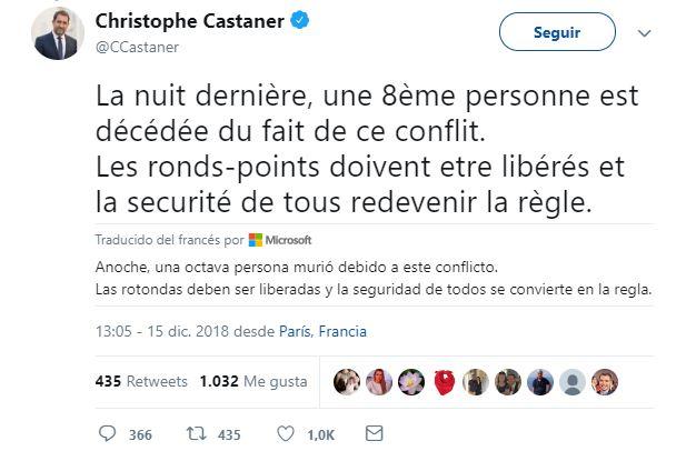 suman ocho muertos por protestas en francia