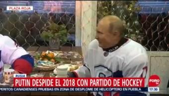 Putin Despide 2018 Partido Hockey Rusia