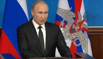 Putin, dispuesto abrir tratado para eliminar armas nucleares