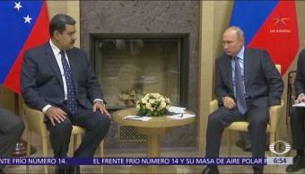 Putin se reunió con Nicolás Maduro y le prometió ayuda para Venezuela