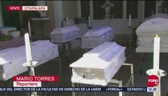 Realizan funerales de 7 menores fallecidos en incendio en Iztapalapa