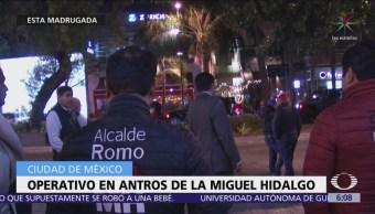 Realizan operativo nocturno en bares de la alcaldía Miguel Hidalgo, CDMX