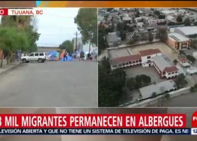 Repliegan a migrantes del campamento Benito Juárez de Tijuana