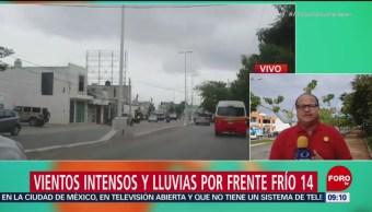 Reportan fuerte viento y lluvia en Campeche por frente frío 14