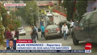 Reportan homicidio de dos adultos mayores en Naucalpan