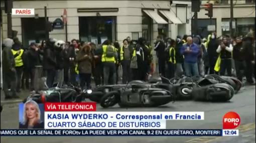 Reportan miles de detenidos durante protestas de 'chalecos amarillos' en París