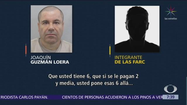 """Revelan audio de """"El Chapo"""" negociando droga con las FARC"""