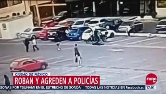 Roban Y Agreden A Policías En Ciudad De México, Roban Y Agreden, Policías, Ciudad De México, Cámara De Seguridad, Alcaldía Gustavo A. Madero