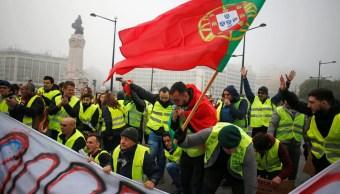 protestas de chalecos amarillos se extienden portugal