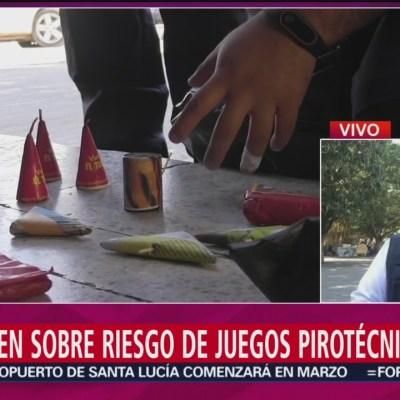 Advierten sobre el riesgo de juegos pirotécnicos en Chiapas