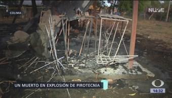 Se incendia taller de pirotecnia en Colima