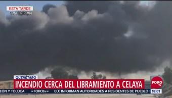 Se registra incendio de pastizal en límites de Querétaro y Guanajuato