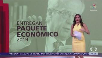 Secretaría de Hacienda entrega el Paquete Económico 2019