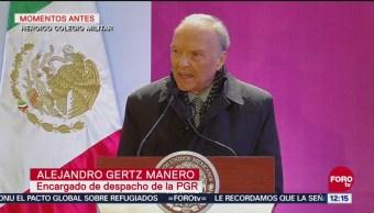 Seguridad sin justicia no tendrá resultados, advierte Gertz Manero