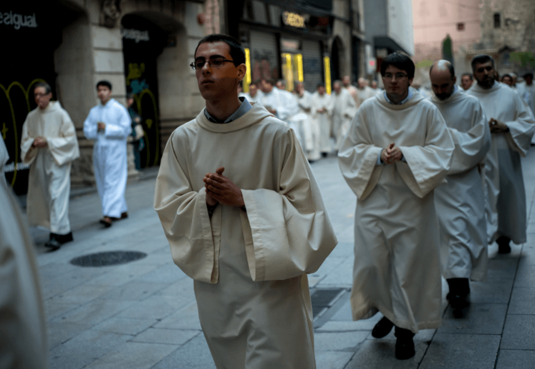 Seminaristas católicos en Barcelona. (Getty Images, archivo)