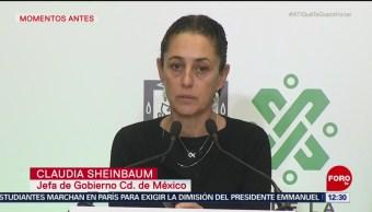 Sheinbaum alista CDMX para enfrentar sismos similares al del 19S