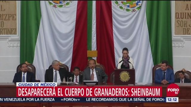 Sheinbaum anuncia desaparición del Cuerpo de Granaderos de la CDMX