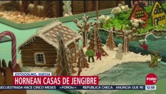 Suecia realiza concurso de casas con jengibre