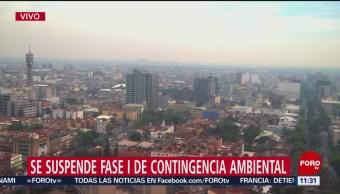 Suspenden Fase 1 de la Contingencia Ambiental en el Valle de México