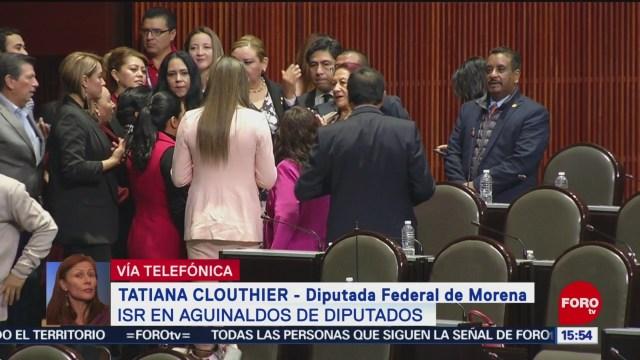 Tatiana Clouthier aclara tema del ISR en aguinaldos de diputados