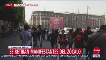 Termina manifestación de comerciantes ambulantes en Centro de CDMX tras 5 horas