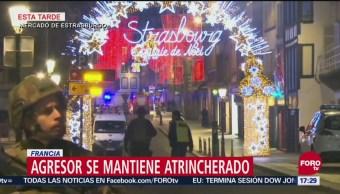Tirador de Estrasburgo se mantiene atrincherado; suman 4 muertos