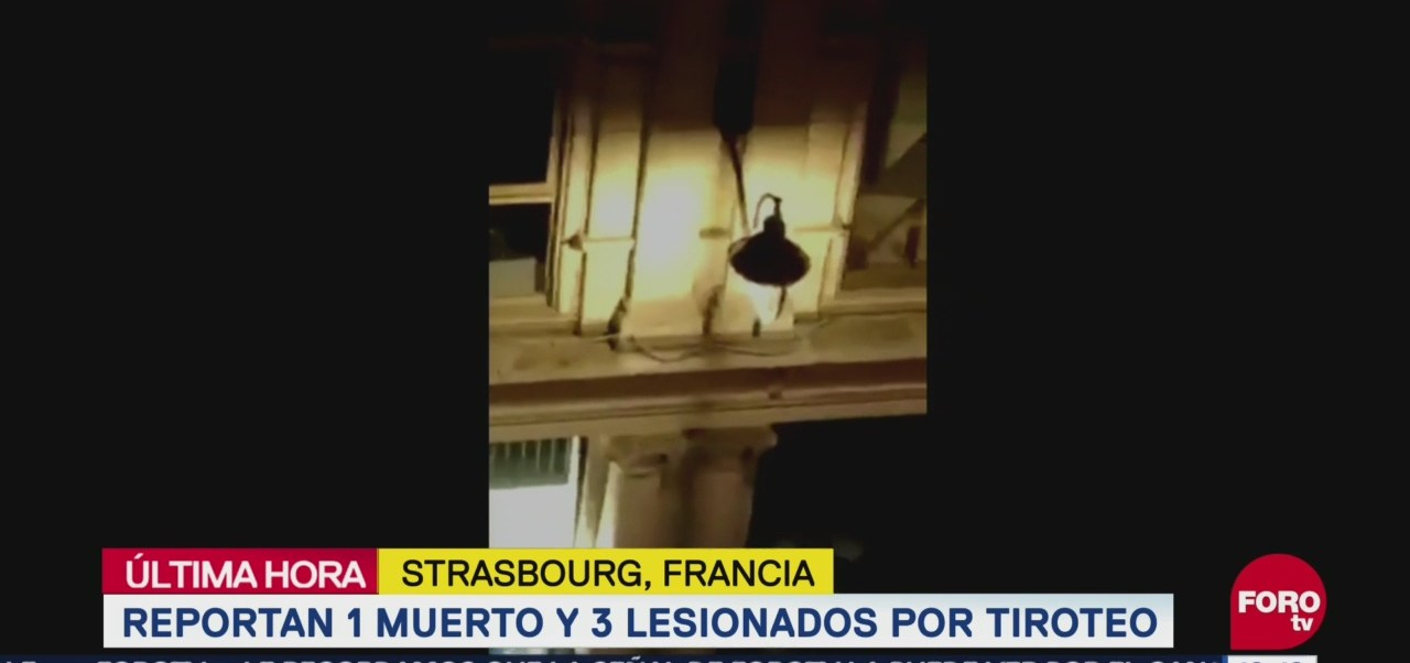 Tiroteo en el centro de Estrasburgo deja un muerto