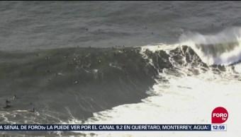 Tormentas provocan olas de hasta 12 metros en California