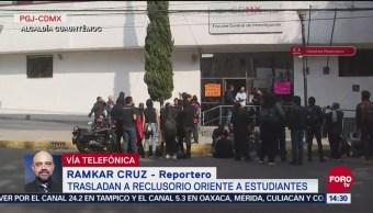 Trasladan a reclusorio oriente a estudiantes detenidos por agresión a Rectoría