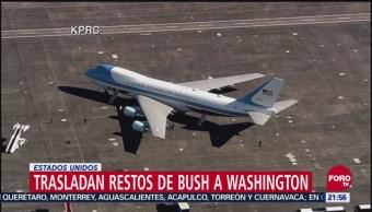 Trasladan restos de Bush a Washington, Estados Unidos