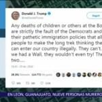 Trump culpa a demócratas por muerte de niños centroamericanos