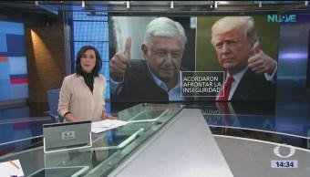 Trump y AMLO acuerdan respaldar a América Central