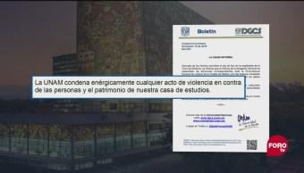 UNAM Presenta Denuncia Ataque Profesor Rectoría