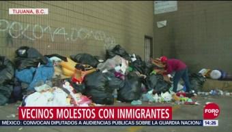 Vecinos molestos con migrantes en Tijuana, Baja California