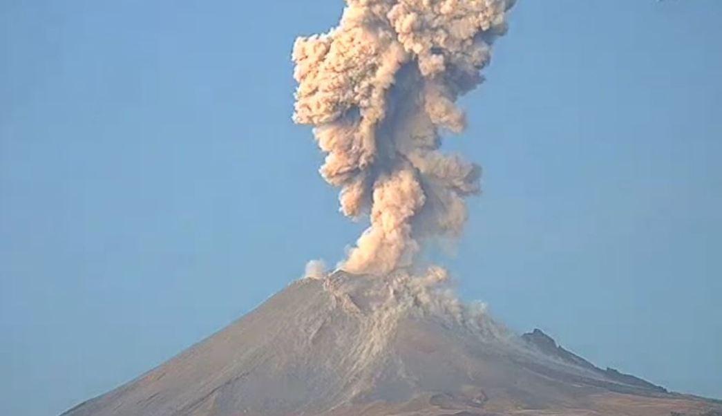 Volcán Popocatépetl registra nueva explosión este domingo