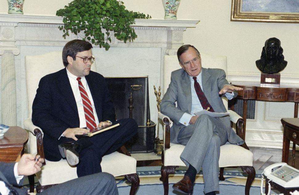 William Barr dirigió el Departamento de Justicia