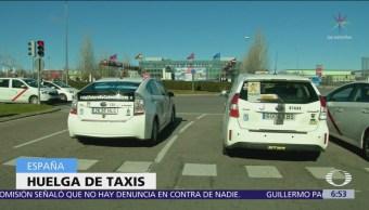 17 mil taxistas de Madrid y Barcelona hacen huelga