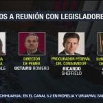 Agendan comparecencia de funcionarios ante legisladores