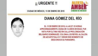 Alerta Amber para localizar a Diana Gómez del Río