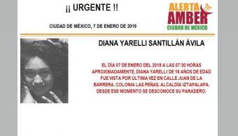 Alerta Amber para localizar a Diana Yarelli