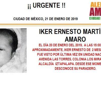 Alerta Amber: Ayuda a localizar a Iker Ernesto Martínez Amaro