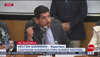 Alfonso Durazo ofrece a diputados mando civil para Guardia Nacional