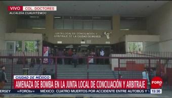 Amenaza de bomba en la Junta Local de Conciliación y Arbitraje en CDMX