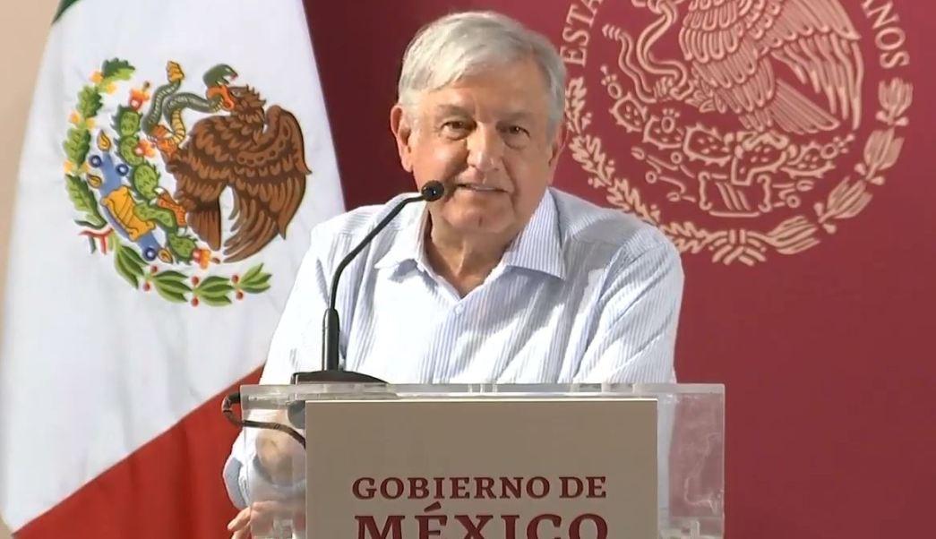 """Foto: El presidente Andrés Manuel López Obrador encabeza en El Rosario, Sinaloa, el evento """"México con agua se transforma"""" el 26 de enero de 2019"""