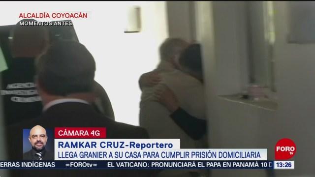 Andrés Granier llega a su casa para cumplir prisión domiciliaria